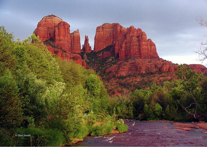 Sedona Greeting Card featuring the photograph Blessed During The Storm by Gina Janelli