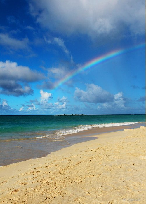Rainbow Greeting Card featuring the photograph Blessed With A Rainbow by Kerri Ligatich