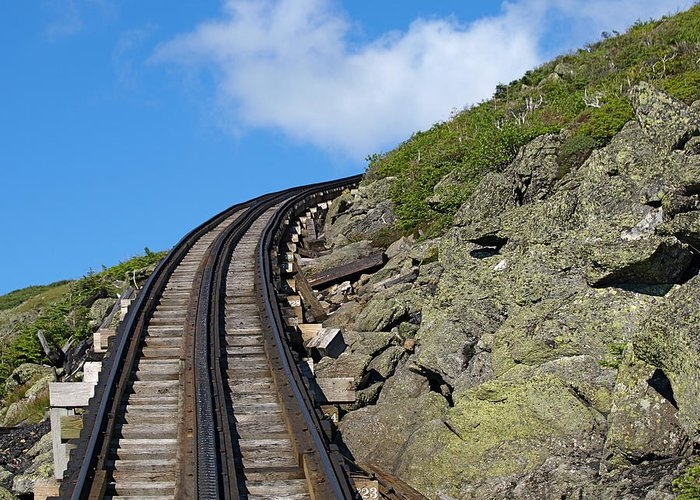 Trains.tracks Greeting Card featuring the photograph Blind Corner by Peter Gray