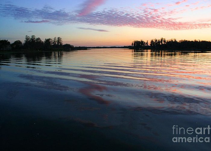 Lake Greeting Card featuring the photograph Blissfull Serenity by Maria Young