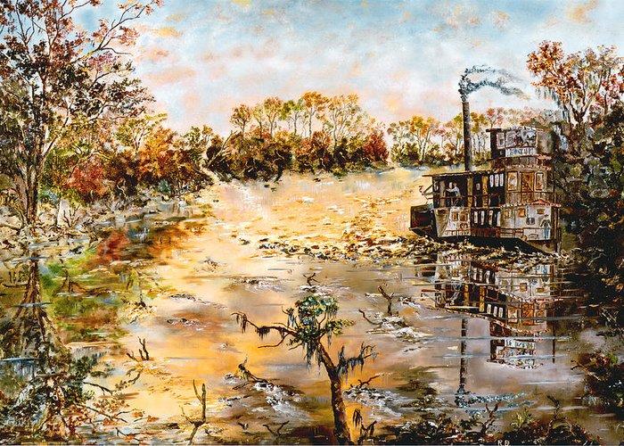 Savannah Greeting Card featuring the painting Blockade Runner by Richard Barham