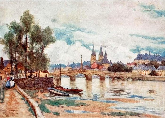 Herbert Menzies Marshall - Blois Greeting Card featuring the painting Blois by MotionAge Designs