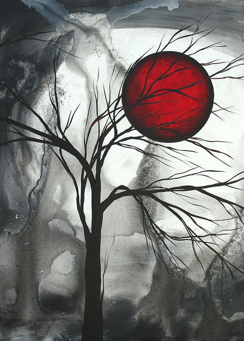 Huge Greeting Card featuring the painting Blood Of The Moon 2 By Madart by Megan Duncanson