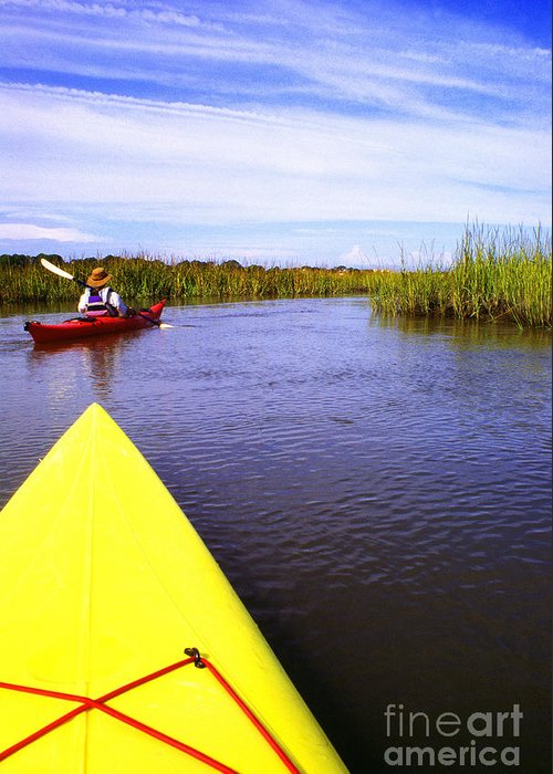 Kayak Greeting Card featuring the photograph Bloody Marsh St Simons Island by Thomas R Fletcher