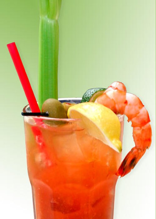 Drinks Greeting Card featuring the photograph Bloody Mary Hand-crafted by Christine Till