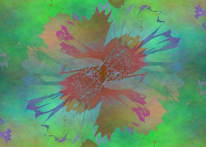 Bloom Greeting Card featuring the digital art Blooms In The Mist by Tim Allen