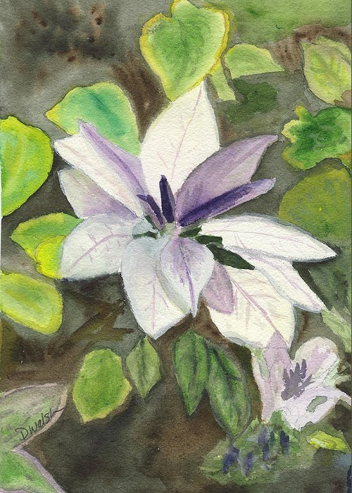 Blossom Greeting Card featuring the painting Blossom At Sundy House by Donna Walsh