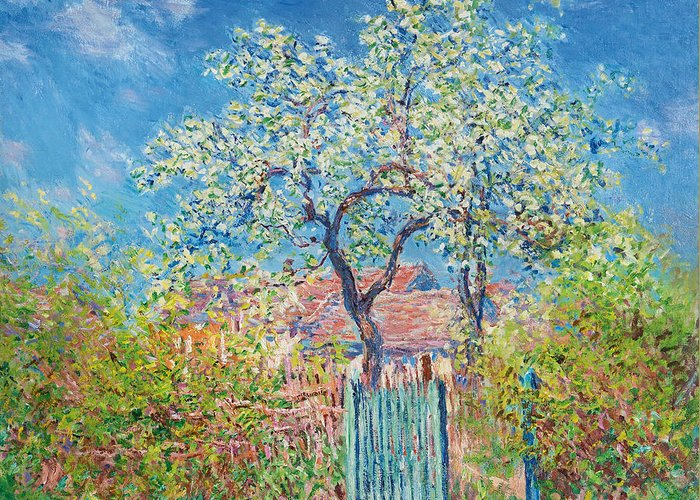 Blossoming pear tree greeting card for sale by claude monet claude monet greeting card featuring the painting blossoming pear tree by claude monet m4hsunfo