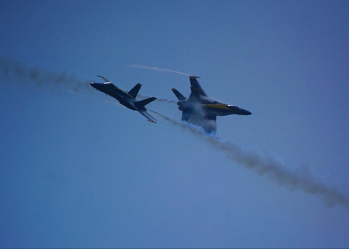 Blue Angels Greeting Card featuring the photograph Blue Angels by Raymond Salani III