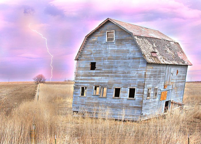 Barns Greeting Card featuring the photograph Blue Barn by James BO Insogna