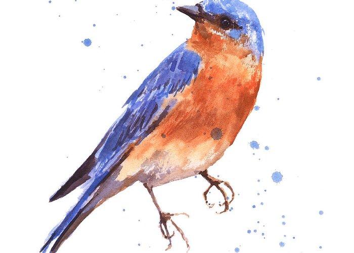 Blue bird blue bird painting greeting card for sale by alison fennell blue bird greeting card featuring the painting blue bird blue bird painting by alison fennell m4hsunfo