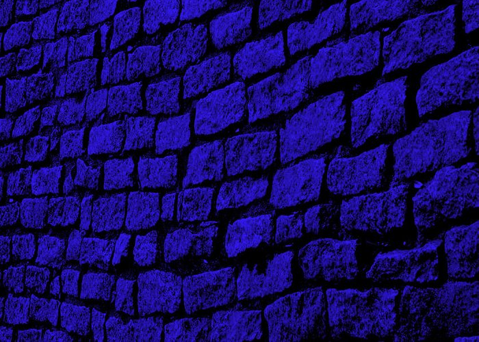 Blue Greeting Card featuring the photograph Blue Cobblestone by Dana Blalock
