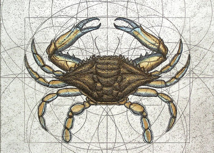Maryland Greeting Card featuring the painting Blue Crab by Charles Harden
