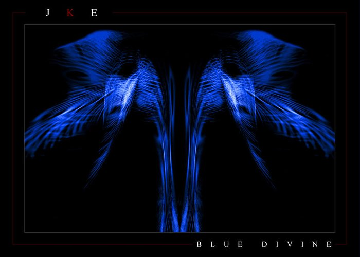Blue Greeting Card featuring the photograph Blue Divine by Jonathan Ellis Keys