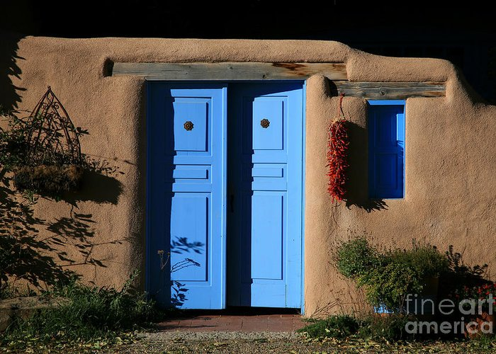 Doors Greeting Card featuring the photograph Blue Doors by Timothy Johnson