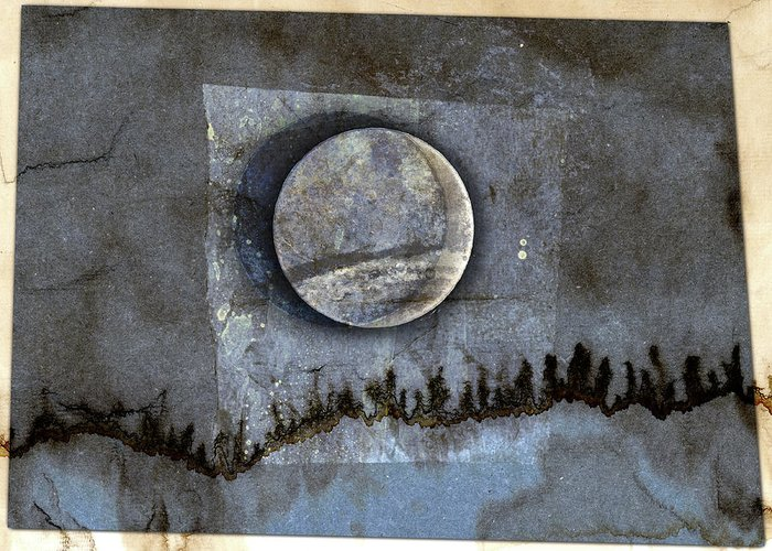 Solar Eclipse Mixed Media Greeting Cards