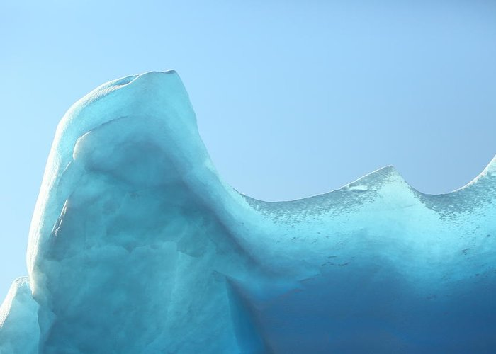 Ice Greeting Card featuring the photograph Blue Ice by Bruce J Robinson