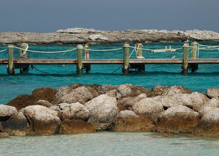 Beach Greeting Card featuring the photograph Blue Lagoon by Lori Mellen-Pagliaro