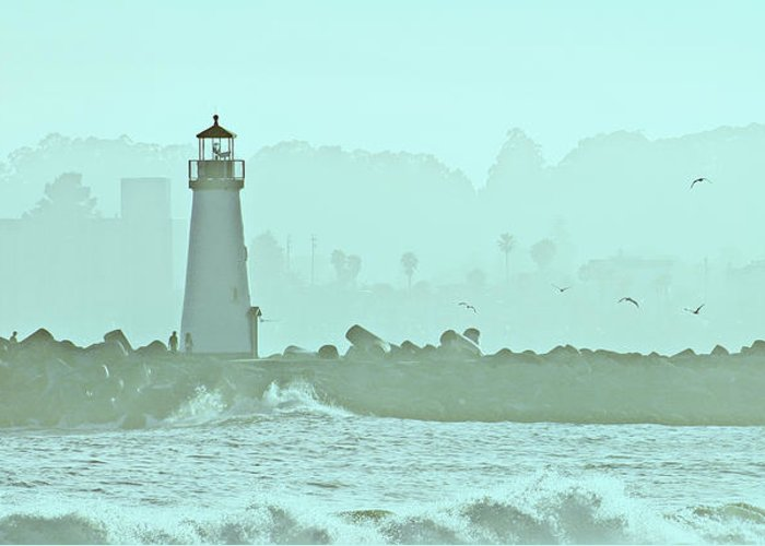Blue Greeting Card featuring the photograph Blue Mist 1 by Marilyn Hunt