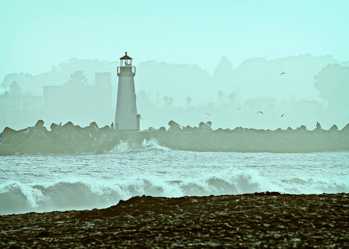 Blue Greeting Card featuring the photograph Blue Mist 2 by Marilyn Hunt