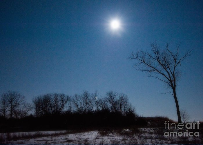Blue Moon Greeting Card featuring the photograph Blue Moon Over Kansas by Fred Lassmann