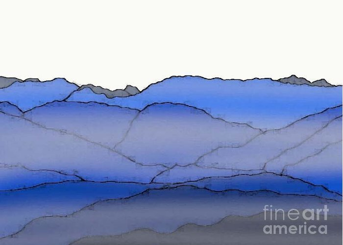 Blue Mountain Fog Greeting Card featuring the painting Blue Mountain Fog by Priscilla Wolfe