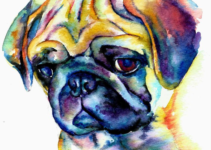 Fawn Pug Greeting Cards