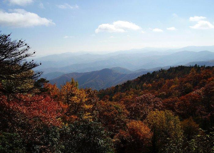 Blue Ridge Mountains Greeting Card featuring the photograph Blue Ridge Mountains by Flavia Westerwelle