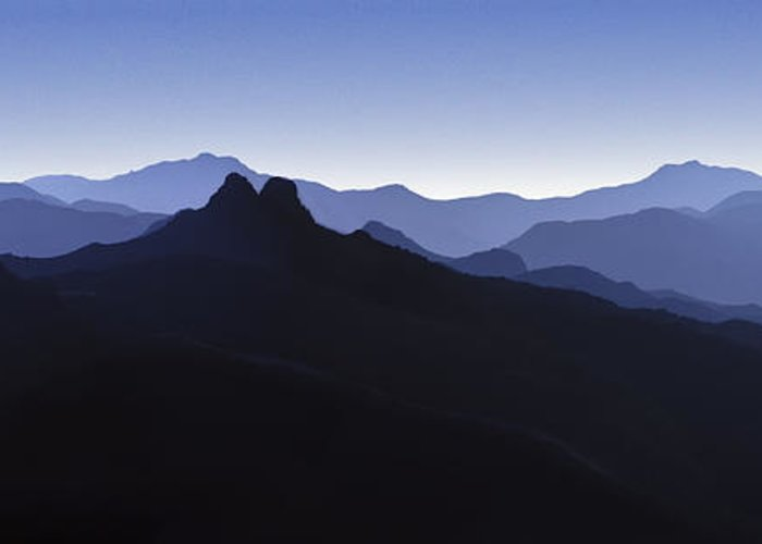 Blue Ridge Mountains Greeting Card featuring the photograph Blue Ridge Mountains. Pacific Crest Trail by David Zanzinger