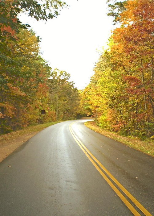 Asheville Greeting Card featuring the photograph Blue Ridge Parkway In Fall by Utopia Concepts