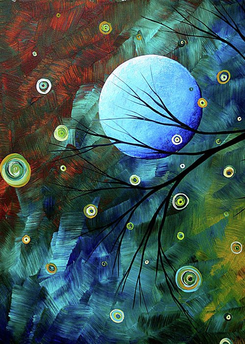 Art Greeting Card featuring the painting Blue Sapphire 1 By Madart by Megan Duncanson