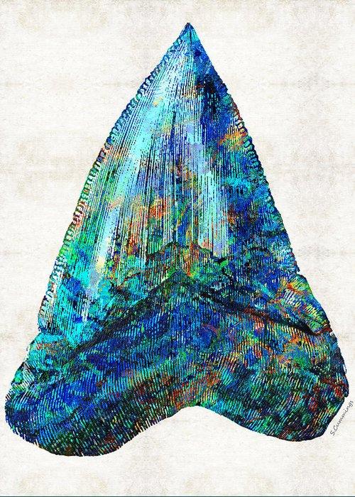 Shark Fossil Teeth Greeting Cards