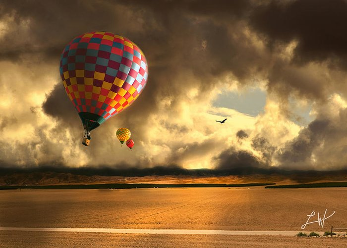 Hot Air Balloon Ride Greeting Card featuring the photograph Blue Skies Ahead by Artist and Photographer Laura Wrede