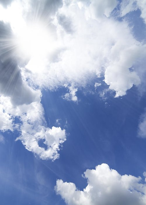 Air Greeting Card featuring the photograph Blue Sky And Cloud by Setsiri Silapasuwanchai