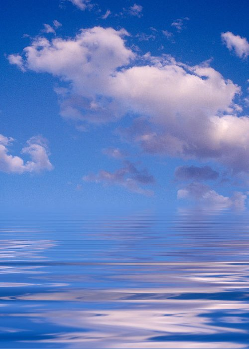 Original Art Greeting Card featuring the photograph Blue Sky Reflections by Jerry McElroy