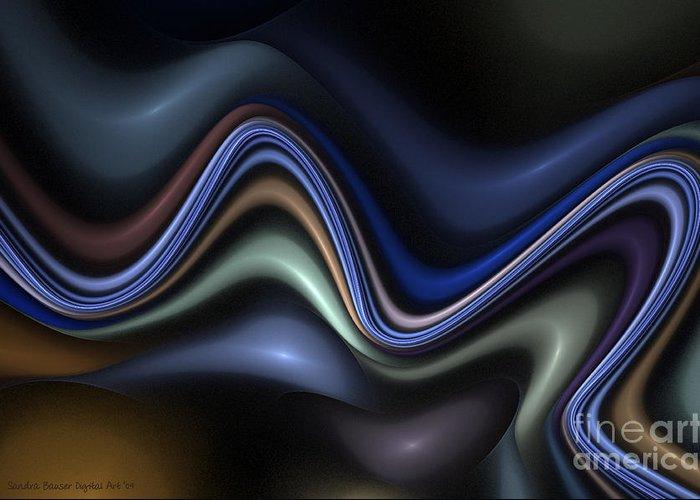 Digital Greeting Card featuring the digital art Blue Taffy by Sandra Bauser Digital Art