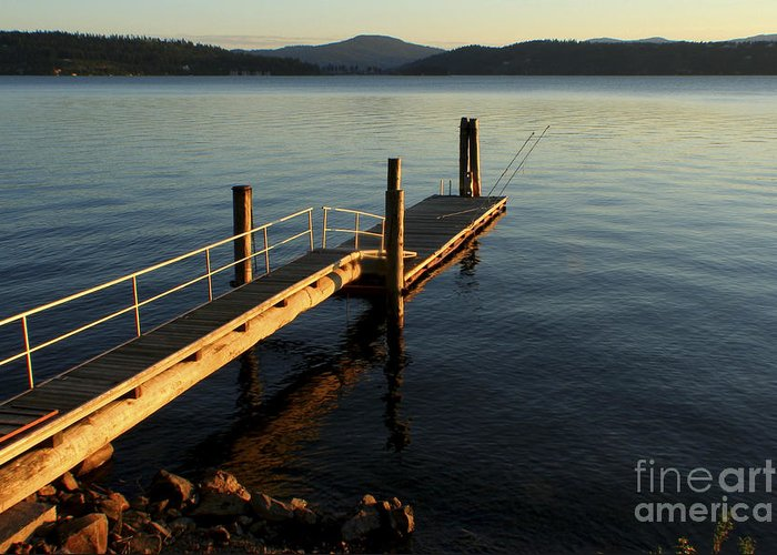 Tranquility Greeting Card featuring the photograph Blue Tranquility by Idaho Scenic Images Linda Lantzy