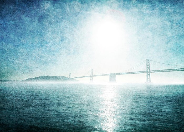 Greeting Card featuring the photograph Blue Water Bridge by Guy Crittenden