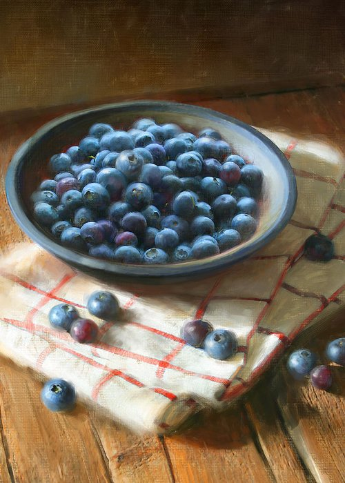 Blueberries Greeting Cards