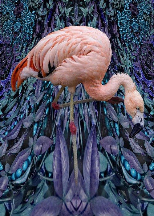 Bird Greeting Card featuring the digital art Blueberry Bird by Chuck Brittenham