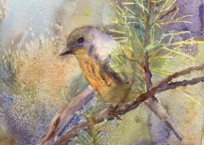 Nature Greeting Card featuring the painting Bluebird by Elizabeth Evans