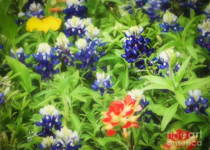 Bluebonnets Greeting Card featuring the photograph Bluebonnet Bouquet by TK Goforth