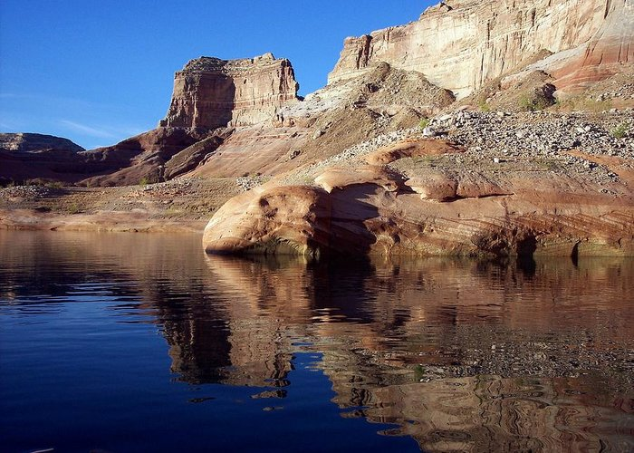 Lake Powell Greeting Card featuring the photograph Bluegill Cove by Adrienne Wilson