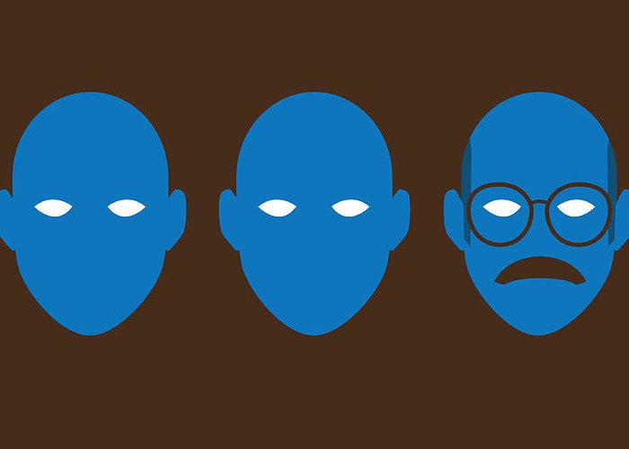 Arrested Development Greeting Card featuring the digital art Bluth Man Group by Michael Myers