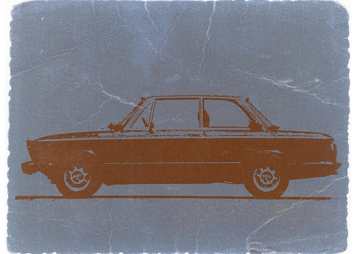 Greeting Card featuring the photograph Bmw 2002 Orange by Naxart Studio