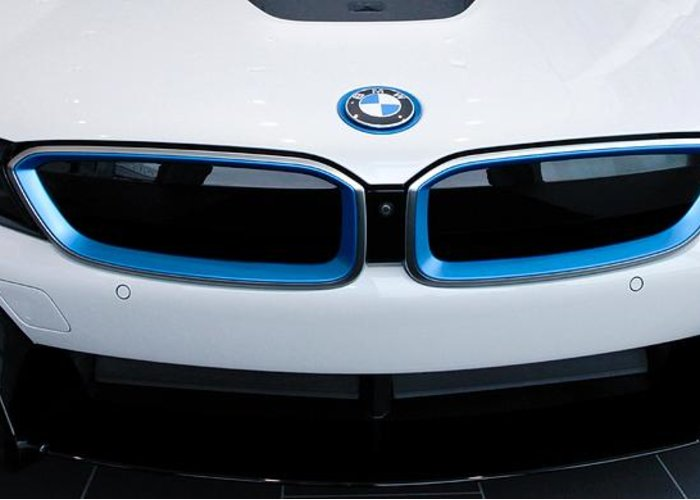 Bmw I8 Greeting Card featuring the photograph Bmw E Drive I8 by Aaron Berg