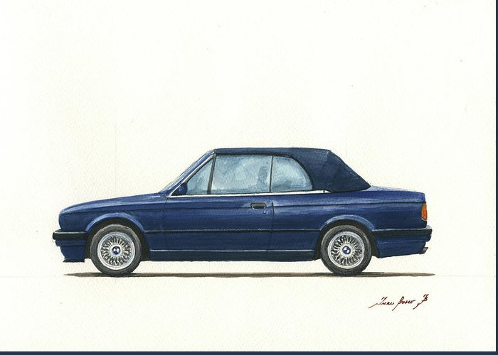 Bmw E30 Cabrio Greeting Card