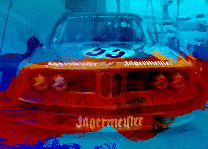 Greeting Card featuring the photograph Bmw Jagermeister by Naxart Studio