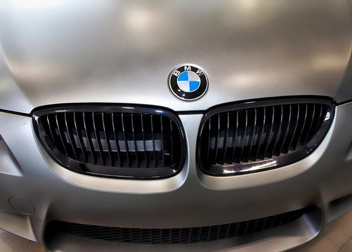 Bmw M3 Greeting Card featuring the photograph Bmw M3 Hood by Aaron Berg