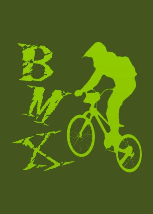 Bmx Greeting Card featuring the digital art BMX by David G Paul